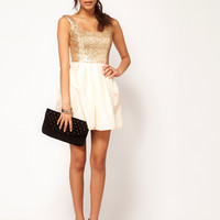 ASOS | ASOS Sequin Dress with Square Neck at ASOS