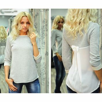 FASHION IRREGULAR STITCHING SHIRTS