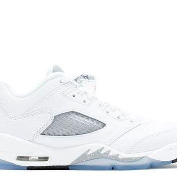 Air Jordan Retro 5 Low White/wolf Grey Gs - Beauty Ticks