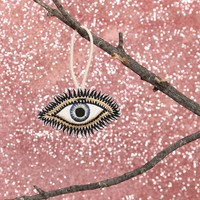 Embroidered Eye Ornament - What's New at Gypsy Warrior