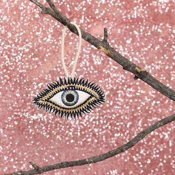 EMBROIDERED EYE ORNAMENT