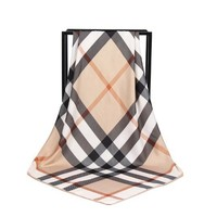 Elegant Plaid Silk Scarf