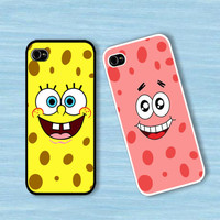 brcase — Spongebob and Patrick Star Face :Case For Iphone 4,5/Samsung S2,3,4