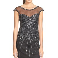 Women's Sean Collection Embellished Mesh Sheath Dress,