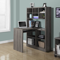 Dark Taupe Reclaimed-Look Left / Right Facing Corner Desk