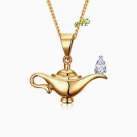 Genie's magic lamp necklace (Sterling silver 925)
