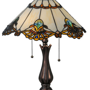 21 Inch H Shell With Jewels Table Lamp