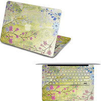 apple macbook pro front decal flower macbook keyboard cover macbook decals laptop top decal macboo air stickers macbook pro skin