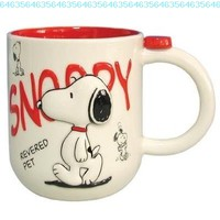 PEANUTS SNOOPY Revered Pet Coffee Tea MUG cup NEW