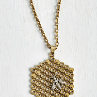 Quirky Hive Been Everywhere Necklace by ModCloth