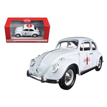 "1967 Volkswagen Beetle \Celebrating 100 years of the Coca Cola Contour Bottle"" 1/24 Diecast Model Car by Motorcity Classics"""