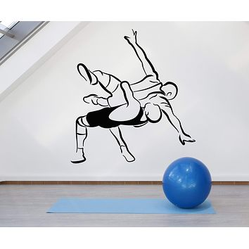 Vinyl Wall Decal Martial Arts Fighter Boy Fight Wrestling Combat Sport Stickers Unique Gift (1926ig)