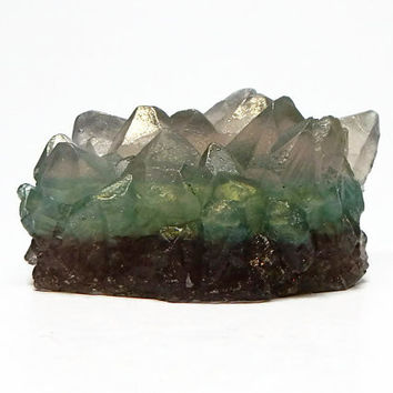 Peacock Crystal Soap in Basil, Sage & Mint