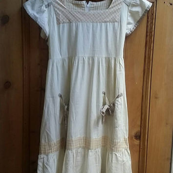 Lolita dress summer dress small dresses earthy smock dress boho clothes small vintage clothing UK empire line bobo  Dolly Topsy Etsy UK