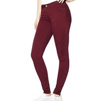 Velvet Burgundy High Waist Colored Jegging