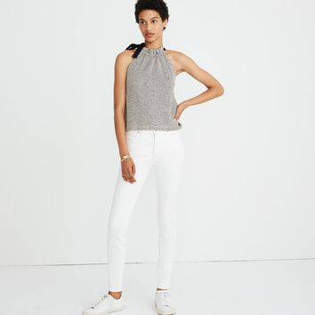 Texture & Thread Tie-Neck Halter Top : shopmadewell tanks | Madewell