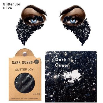 Cool GL24 one pack of Black Dark Queen Cosplay Body Glitter for Punk Makeup Night Club and gift at  ChristmasAT_93_12