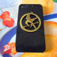 iPhone 4 4S hard Case Cover With bronze hunger games logo Inspired Mockingjay Baby For Apple iPhone 4 case,iphone 4S case  SJK-1730
