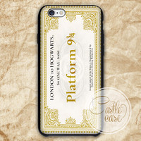 Harry Potter Ticket to Hogwarts phone case iPhone 4/4S, 5/5S, 5C Series, Samsung Galaxy S3, Samsung Galaxy S4, Samsung Galaxy S5 - Hard Plastic, Rubber Case