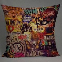5 seconds of summer all time low my chemical romance fall out boy blink 182 nirvana green day pillow case == custom pillow one and two side