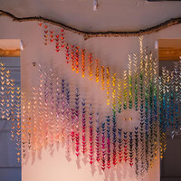 1000 paper cranes wall hanging - custom made to order - event backdrop - home decor
