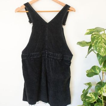 Vintage corduroy overall dress