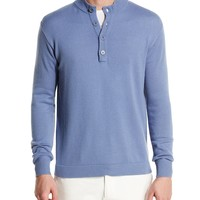 Loro Piana Mezzocollo Fancy York Cashmere Pullover, Blue