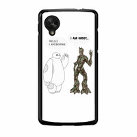 Hello I Baymax I Groot Nexus 5 Case