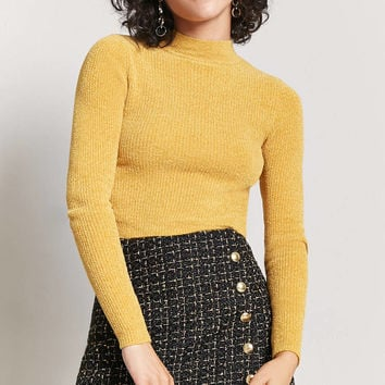 Metallic Tweed Mini Skirt