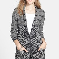 Junior Women's BP. Jacquard Knit Long Cardigan