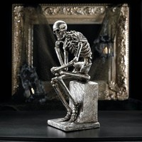 The Thinker Skeleton Halloween Statue