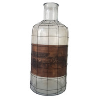 Glass & Wire Bottle, Large, Jars, Canisters, Tins & Bottles