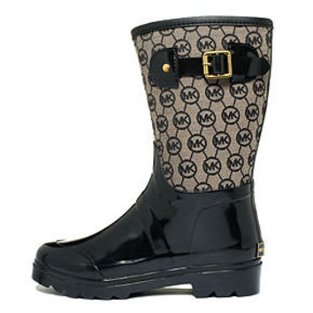 MICHAEL Michael Kors Shoes, Monogram Mid Rain Boots - Shoes - Macy's