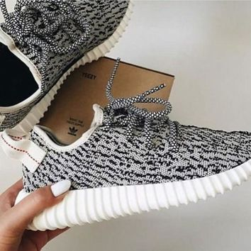 """Adidas"" Trending Fashion Casual Women Yeezy Boost Sneakers Running Sports Shoes Grey G"