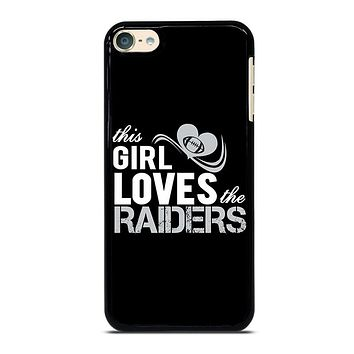 THIS GIRL LOVES THE RAIDERS 2 iPod 4 5 6 Case