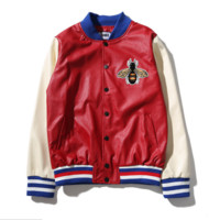 Gucci Fashion Bee Embroider Zipper Cardigan Sweatshirt Jacket Coat Sportswear