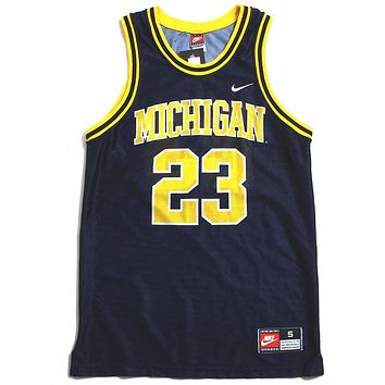 University of Michigan #23 Nike Basketball Jersey Navy (Small)