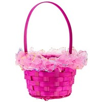 Pink Bamboo Easter Basket with Lace | Shop Hobby Lobby