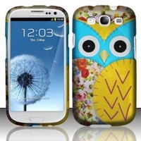 Amazon.com: BJ Blu Yellow Owl Hard Case Snap On Protector Cover For Samsung Galaxy S3 i9300: Cell Phones & Accessories