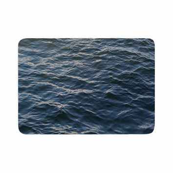 "Suzanne Carter ""Deep Water"" Nautical Blue Memory Foam Bath Mat"