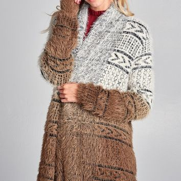 Brown Ombre Sparkle Sweater