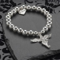Frangipani Sterling Silver My Guardian Angel Bracelet