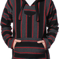 Senor Lopez Coco Loco Black, Charcoal, & Red Poncho