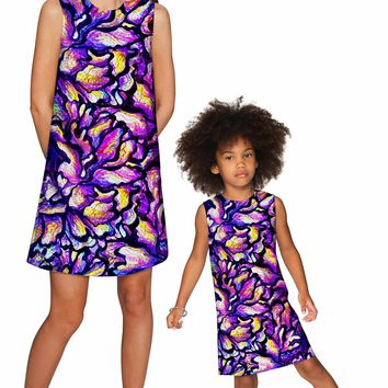 Make a Wish Adele Shift Party Mother and Daughter Dress