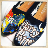 CUSTOM ORDER - Harry Potter Hand-Painted Shoes