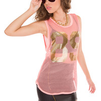 Shailene Jersey Top - Peach