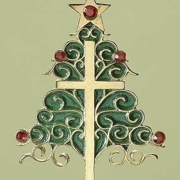 Christmas Ornament - Christmas Tree And Cross