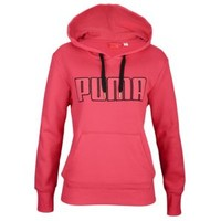 PUMA Large Logo Pull Over Hoodie - Women's