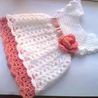 Crochet Baby dress Pattern PDF Crochet newborn dress Digital Download Pattern DIY Baby Shower Gift