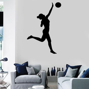 Wall Stickers Volleyball Ball Sports Game Girl Beat Paz Vinyl Decal (ed428)